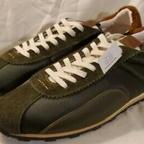 Coach C122 With Shearling Tab in Od Green/olive/ Brown Men's Sneakers Size 13d Photo