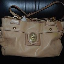 Coach Camel Leather Satchel  Bag Medium Purse Photo