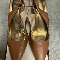 Coach Camel Soft Leather Pointed Toe Pumps Heels Size 9.5b  Made in Italy Photo