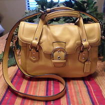 Coach Campbel Satchel Yellow Leather Style F27231 Photo