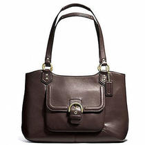 Coach Campbell Belle Brass/mahogany Leather Carryall Handbag Purse F24961 Photo