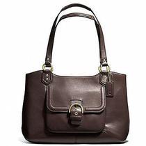 Coach Campbell Belle Brass/mahogany Leather Carryall Handbag Purse F24961 Photo