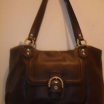 Coach Campbell Belle Leather Carryall Handbag/purse-F24961 Brass/mahogany Photo