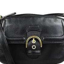Coach Campbell Black Leather Camera Crossbody Handbag  F25150    New Photo