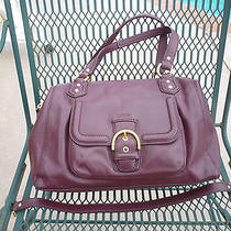 Coach Campbell Bordeaux Wine Burgundy Leather Satchel 25151  Photo