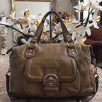 Coach Campbell Brown Leather Satchel Convertible Bag Purse F24690 378 -Rare Photo