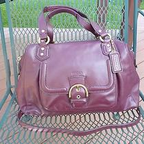 Coach Campbell Burgundy Wine Red Leather Satchel Bag Strap 25151 Photo
