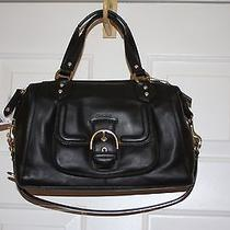 Coach Campbell Convertable Satchel New With Tag Black Leather / Gold Photo