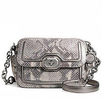 Coach Campbell Exotic Python Leather Shoulder Camera Crossbody Handbag 358  Photo