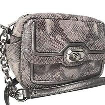 Coach Campbell F24849 Exotic Python Gray Leather Mini Crossbody Bag Photo