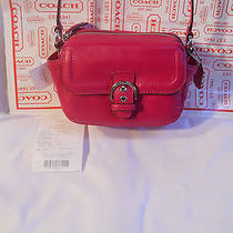 Coach Campbell Fuchsia Leather Camera Shoulder or Crossbody Bag Nwt F25150 Photo