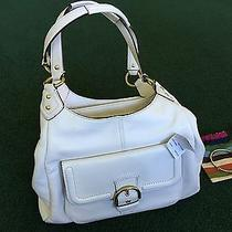 Coach Campbell Ivory Leather Hobo F24686 Retail 418  Coach Bangle/bracelet Photo