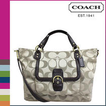 Coach Campbell Izzy Satchel Nwt Khaki/mahogany - F25290 Photo