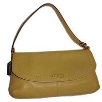 Coach Campbell Large Sand Leather Zip Wrist Wallet Clutch Demi Bag 50183 Photo
