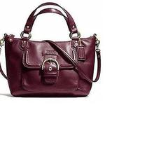 Coach Campbell Leath Mini Tote - Bordeaux/brass - New With Tags Photo