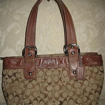 Coach  Campbell Leather Belle Carryall Mahogany Brown Handbag  418 24961 Photo