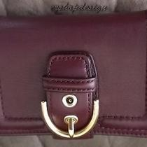 Coach Campbell Leather Buckle Medium Wallet (50090) Nwt Photo