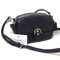 Coach Campbell Leather Camera Bag B4/black F25150 Nwt Photo