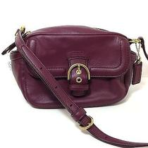 Coach Campbell Leather Camera Bag Brass/bordeaux F25150 Nwt Photo