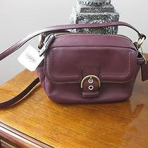 Coach Campbell Leather Camera Bag Crossbody Bordeaux Burgandy F25150 Nwt Photo