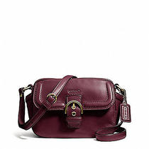 Coach Campbell Leather Camera Bag Crossbody Purse Bordeaux F25150 Nwt 258 Photo