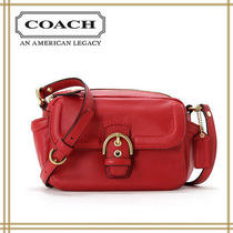 Coach Campbell Leather Camera Bag in Red  F25150 Nwt Photo