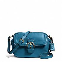 Coach Campbell Leather Camera Bag in Teal/brass  F25150 Nwt Photo