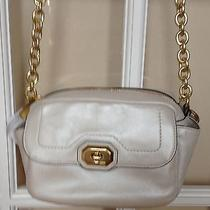 Coach Campbell Leather Camera Bag - Nwt- Pearlized Beige Photo