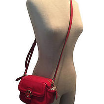 Coach Campbell Leather Camera Bag Red Nwt F25150 Photo