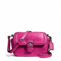 Coach Campbell Leather Camera Crossbody Bag Fuchsia 258 Photo