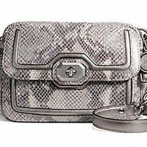 Coach Campbell Leather Camera Crossbody Bag Grey 358 Photo