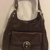 Coach Campbell Leather Hobo F24686 Mahogany Gold Hardware Nwt  Authentic Photo