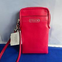 Coach Campbell Leather Iphone Universal Case 66787 Nwt   Photo