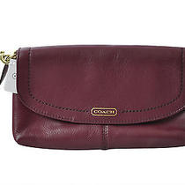 Coach Campbell Leather Large Wristlet  F50183 - Msrp 128 - Mahogany -  Nwt   Photo
