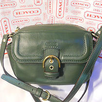 Coach Campbell Leather Racing Green Camera Shoulder or Crossbody Bag Nwt F25150 Photo