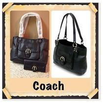 Coach Campbell Leather Satchel and Wallet Photo
