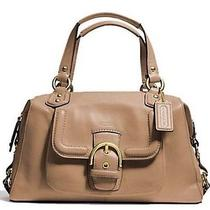 Coach Campbell Leather Satchel - Camel  - Brand Nwt Photo