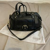 Coach Campbell Leather Satchel Convertible Bag Purse Black  Photo