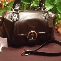 Coach Campbell Leather Satchel F24690 Mahogany Photo