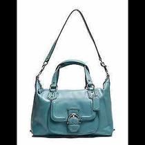 Coach Campbell Leather Satchel - Mineral Photo