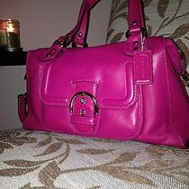 Coach Campbell Leather Satchel (Pink) Photo