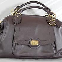 Coach Campbell Leather Satchel Plum Metallic F25508 Photo
