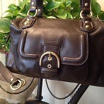 Coach Campbell Leather Satchel/shoulder Bag F24690 Mahogany Msrp 378.00 Photo