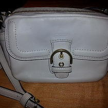 Coach Campbell Leather Shoulder/croossbody Camera Bag White Photo