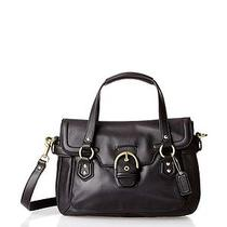 Coach Campbell Leather Small Flap Satchel Photo