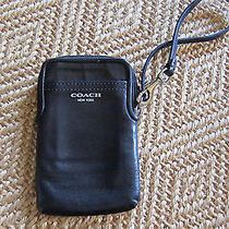 Coach Campbell Leather Universal Case Bag Wristlet Iphone Photo