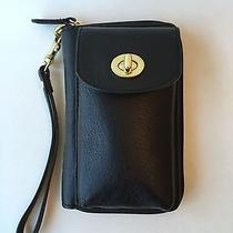 Coach Campbell Leather Universal Zip Cell Phone Case Wallet Black Mint F50070 Photo