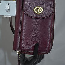 Coach Campbell Leather Universal Zip Cell Phone Wallet  Nwt Photo