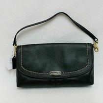 Coach Campbell Mahogany Leather Wristlet Clutch Wallet 50183 Nwt Photo