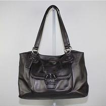 Coach Campbell Metallic Gray Leather Hobo Bag Photo
